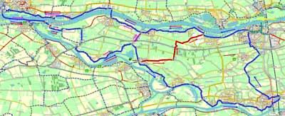 Afbeeldingsresultaat voor fietsroute Bommelerwaard loevestein